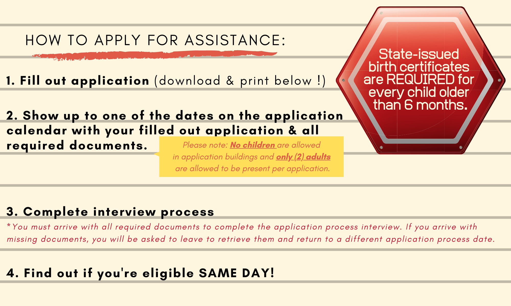 How to Apply for Assistance